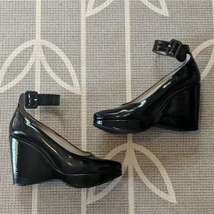 Robert Clergerie Patent Leather Platforms